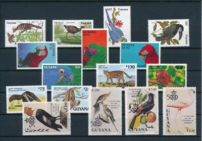 [G92243] Guyana Fauna good lot Very Fine MNH stamps