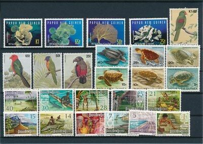 [G92285] Papua New Guinea good lot Very Fine MNH stamps
