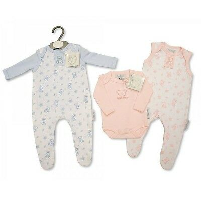 Premature Baby Clothes preemie Tiny set Dungarees Top Pink Blue 3-5lbs 5-8lbs