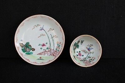 One teabowl and saucer 18 th century famille rose
