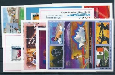 [G93150] Lesotho Olympics 8 good sheets Very Fine MNH