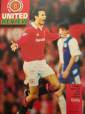 Manchester United v CELTIC 3.8.1993 and ticket
