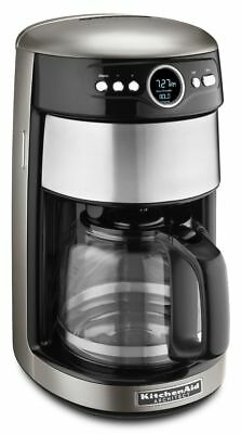 KitchenAid KCM1402ACS Architect 14-Cup Glass Coffee Maker - Cocoa Silver