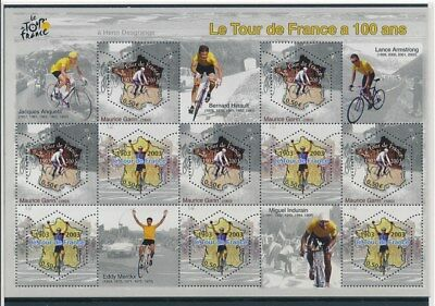 [G93200] France Cycling good sheet Very Fine MNH