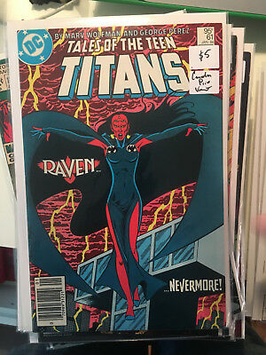 TALES OF THE TEEN TITANS 61 VF+ 1st Print CANADIAN PRICE VARIANT Newsstand Perez