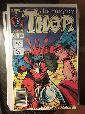 THE MIGHTY THOR #348 NM- 1st Print CANADIAN PRICE VARIANT Newsstand Simonson