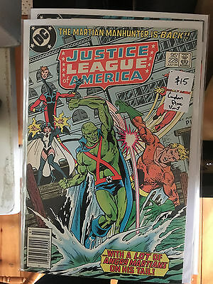 JUSTICE LEAGUE OF AMERICA #228 NM- 1st Print CANADIAN PRICE VARIANT Newsstand