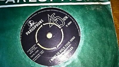 THE BEATLES UK PARLOPHONE 45 I WANT TO HOLD YOUR HAND 1st ISSUE 1963