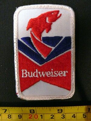 Embroidered patch Budweiser Fishing Beer angler lager vintage