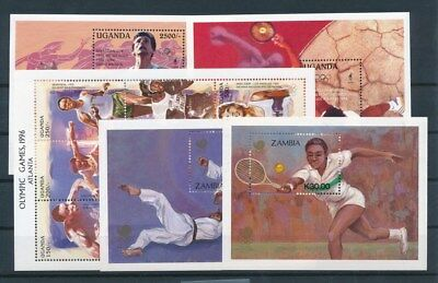 [G93545] Africa Olympics 5 good sheets Very Fine MNH