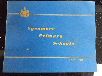 Vintage Opening Booklet 1958 - Sycamore Primary School Cantley - Doncaster