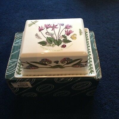 Portmerrion Botanic Garden Covered Butter Dish, Brand New With Box