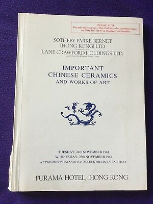 SOUTHEBY PARKE BERNET HONG KONG:  Important Chinese Ceramics and Works of Art
