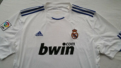 """Real Madrid Home Football Shirt 2010 (Adidas XXL 48-50"""") New with marks"""