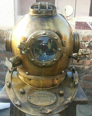Antique-Scuba SCA-Divers Diving+Helmet US Navy Mark V Deep Sea Marine Divers W1