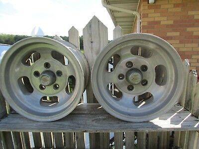 Vintage Ansen Automotive Sprint Aluminum Slotted Wheels/drag/hot Street Rat Rod