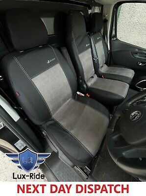 Vauxhall Vivaro 2014 Present Eco Leather & Alicante Seat Covers Made To Measure