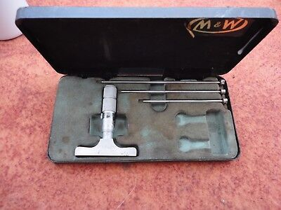 Moore And Wright 0-75mm Metric Depth Micrometer complete with box