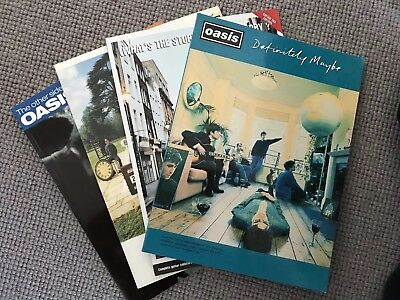 Oasis Guitar Tablature Books x 4. First 4 Albums... sort of.