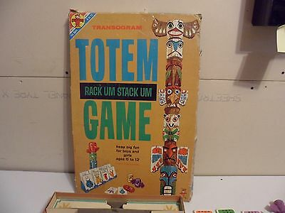 Transogram Complete TOTEM Board Game Very Rare