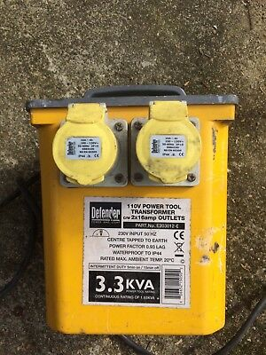 110v 3.3KVA Power Tool Transformer with 2 x Sockets collection only