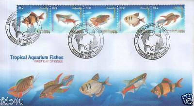 Pakistan Fdc 2004 & Stamps Popular Aquarium Varieties of Tropical Fishes UPU Day
