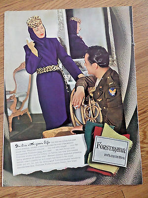 1943 Forstmann Virgin Wool Fashion Ad