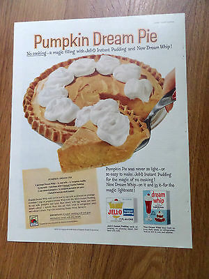 1959 Jell-O Ad  Pumpkin Dream Pie