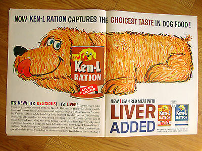 1963 Ken-L-Ration Dog Ad Large Dog Pin Art