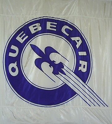 Extremely Rare Full Size Quebecair Flag From The 1950's