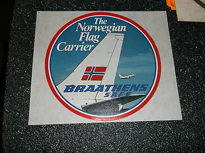 Braathens -Noway's Flag Carrier- Mint Condition Decal