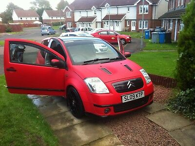 Citroen C2 VTS 1.6 MODIFIED WRAPPED MATTE RED REDUCED TO SELL QUICK SALE