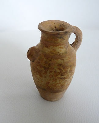 China, Tang Dynasty Glazed Miniature Spouted Jug, C. 7Th Century Ad