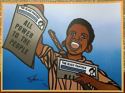 """paper Boy"" Black Panther Party Poster Signed By Emory Douglas Minister Of Art"