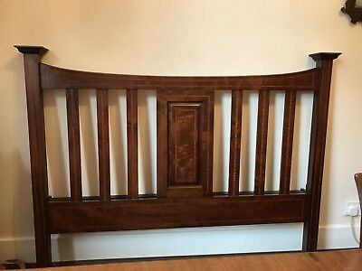 Antique Mahogany Double Bed Head