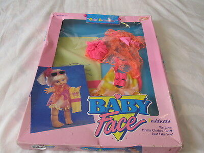 "BABY FACE DOLL fashions ""GOIN' SWIMMING"" NRFB"