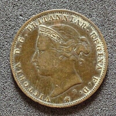Queen Victoria - Jersey - 1877 - 1/24 Shilling (1/2d) - GnF