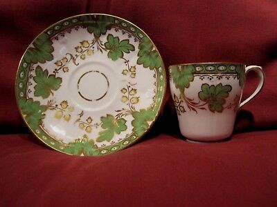 Beautiful Antique Hand Painted Porcelain China Cabinet Cup And Saucer