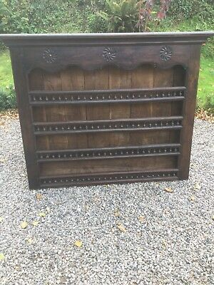 Antique French Chestnut Dresser Top / Plate Rack