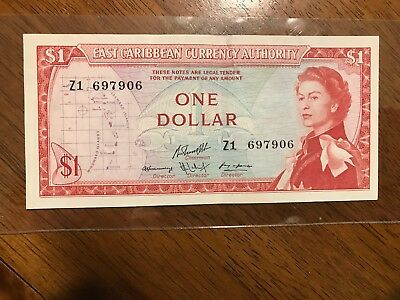 """$1 East Caribbean Currency Authority""""Replacement Note""""1965-?"""