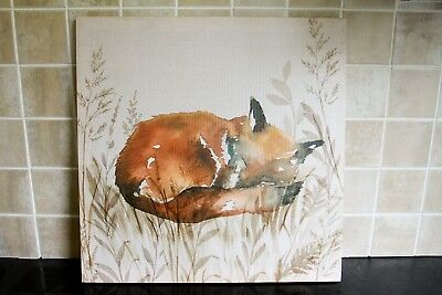 Gorgeous Sleeping Fox Canvas 19x19 Inches Square