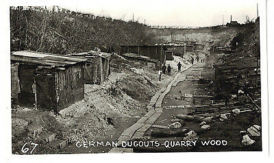 Mfd In Canada Real Photo Postcard Wwi : German Dugouts-Quarry Wood