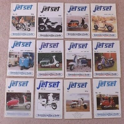""" Lambretta Club Of Great Britain - Twelve "" New  Jet Set Magazines"" ."