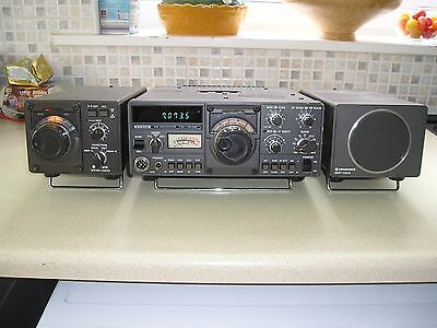 Trio Kenwood TS130S Transceiver Lineup With CW Narrow Filters and Accessories