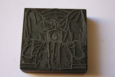 Vintage Printers Block Woman Giving Birth? Surgical Anatomical Oddity
