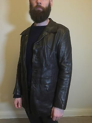 Retro Leather Jacket In Great Condition - AUCTION £0.99 NO RESERVE!!
