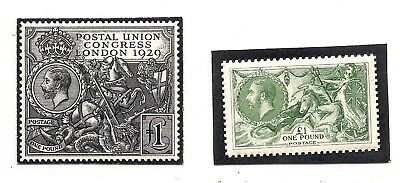 GREAT BRITAIN  facsimiles of £1 stamps  SG403 & SG438