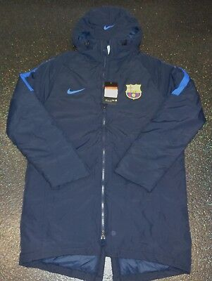 BNWT Nike FC Barcelona Thermore Winter Bench Coat Player Issue ? - Large