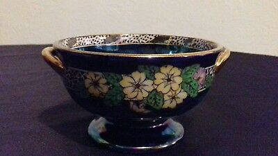 maling lustre twin handled bowl pattern no 6403