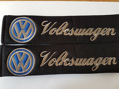 VW VOLKSWAGEN  2 Car Seat Belt Shoulder Cover Pads T5 T4 BEETLE JETTA POLO GOLF